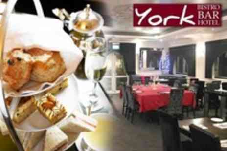 The York Hotel Restaurant - Champagne Afternoon Tea For Two - Save 55%