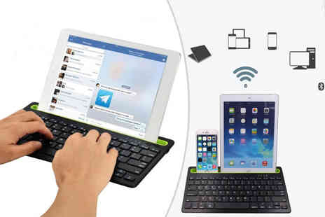 Wishwhooshoffers - Android compatible dual channel Bluetooth keyboard - Save 71%