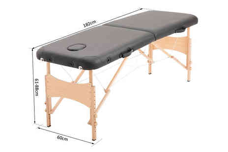 Mhstar - Portable Choose from Two Section Massage Table Choose from Three Colours - Save 54%