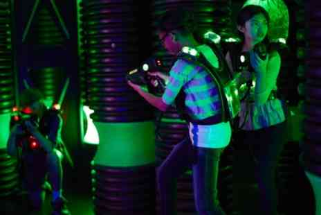 Laser Quest Enfield - Three Games of Laser Tag for Up to 20 People - Save 50%