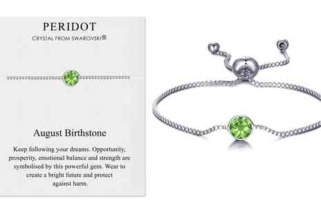 Groupon Goods Global GmbH - Philip Jones Birthstone Bracelet with Crystals from Swarovski - Save 0%