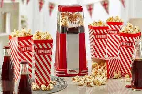 CJ Offers - Cooks Professional popcorn maker choose from two colours - Save 67%
