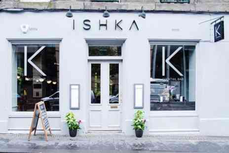 Ishka Restaurant and Cocktail Bar - Two Course Meal with Optional Fizz for Two or Four - Save 48%