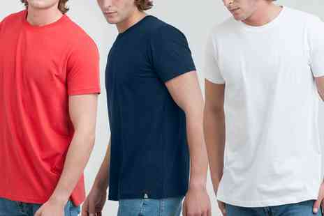 Groupon Goods Global GmbH - Three Pack of Mens Plain Tshirts - Save 0%