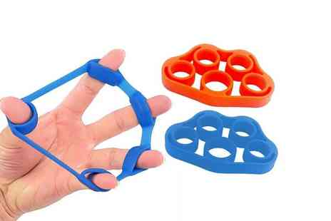 Avant Garde Brands - Pack of 2 Finger Resistance Bands choose from 2 Colours - Save 78%
