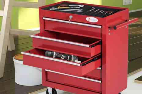 Groupon Goods Global GmbH - Durhand Five or Seven Drawer Tool Storage Box With Free Delivery - Save 0%