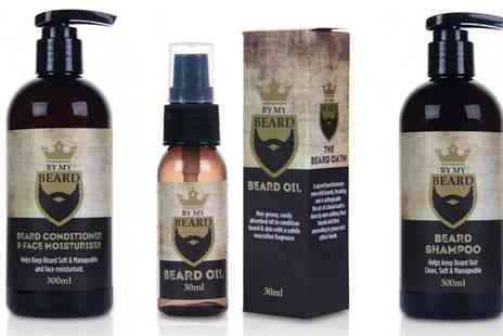 Groupon Goods Global GmbH - My Beard Care Shampoo, Oil and Conditioner and Face Moisturiser - Save 0%