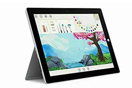 Stock Must Go - 10.8 Inch Microsoft Surface 3 Tablet with 4GB RAM, 128GB, Docking Station, Keyboard & Pen - Save 58%