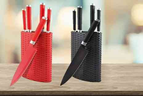 Avant Garde Brands - Six Piece Grunwerg Rockingham Forge Knife Set choose from 2 Colours - Save 71%