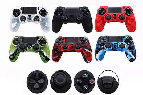 SecretStorz - 1 or 2 Anti Slip Silicone PS4 Controller Skin Cases Choose from 8 Colours - Save 80%