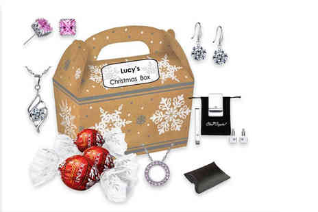 Your Ideal Gift - Personalised Christmas box made with crystals from Swarovski - Save 86%