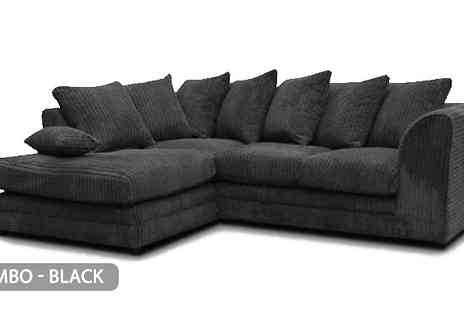 Budget Sofa - 2 Styles of L-Shaped Corner Sofa Choose from 6 Colours - Save 59%