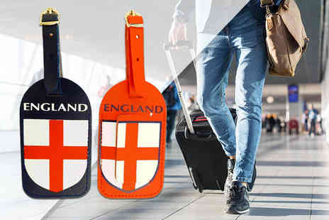 London Exchain Store - Pack of 2 England Luggage Tags - Save 80%