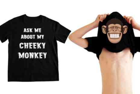 Groupon Goods Global GmbH - One or Two Boys Novelty Monkey Tshirt - Save 0%