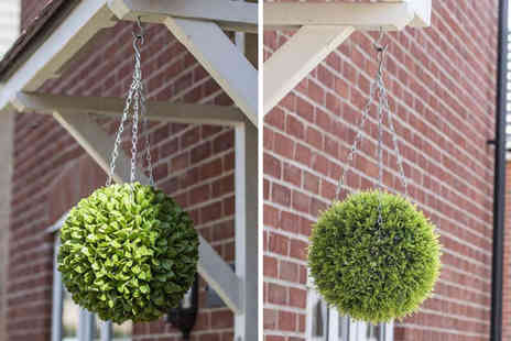 Gardening & Camping - Artificial hanging topiary ball - Save 63%
