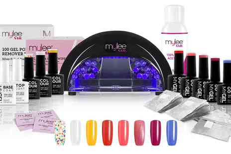 Groupon Goods Global GmbH - Mylee 12W Led Lamp with Optional Two, Four or Eight Colour Gel Nail Kit - Save 0%