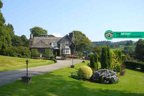 Broadoaks Country House - Five Star Lake District stay with cream tea, four course dinner, breakfast, spa access and 11am late check out - Save 29%