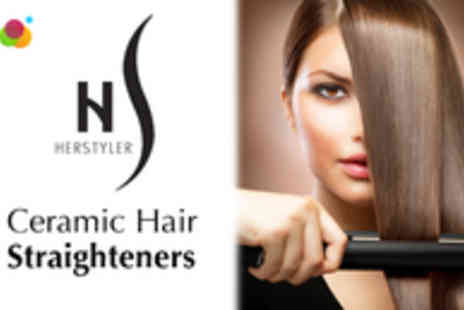 Pure Parfum - HerStyler Ceramic Hair Straightener in a Choice of 3 Colours - Save 76%