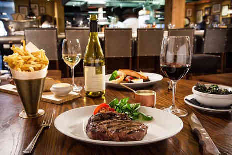 The Mash Tun - Flat iron steak dining for two people with chips cocktail or craft beer each or a bottle of wine to share - Save 53%
