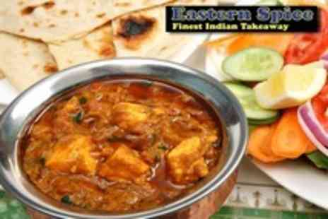 Eastern Spice - Three Course Indian Takeaway For Two - Save 50%