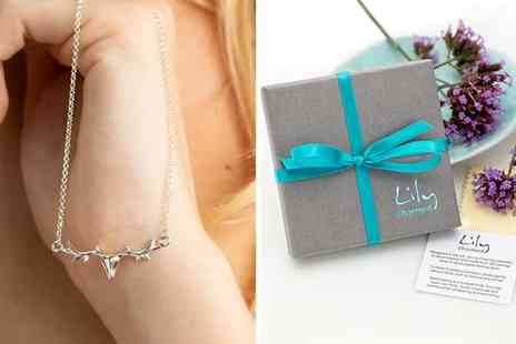 Lily Charmed - Personalised sterling silver flying pig necklace - Save 43%