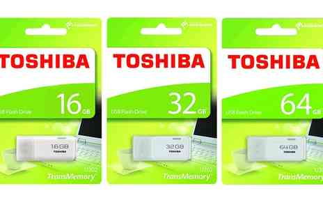 Groupon Goods Global GmbH - 16Gb, 32Gb or 64Gb Toshiba Usb Flash Drive Stick - Save 0%