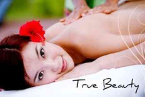 True Beauty - Pamper Package of Facial, Back, Neck, and Shoulder Massage and Manicure - Save 60%