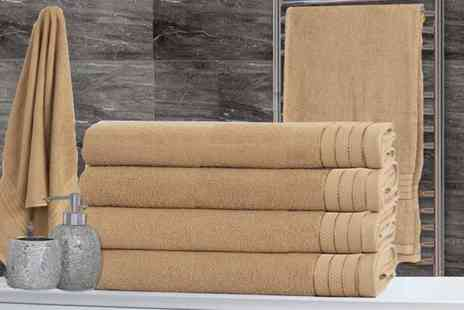 Groundlevel - Set of four luxury cotton bath sheets - Save 68%