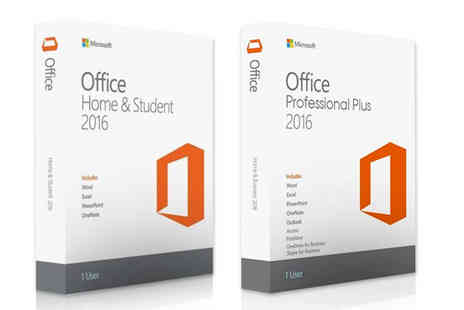 Software Giants - Home and student Microsoft Office 2016 software - Save 33%