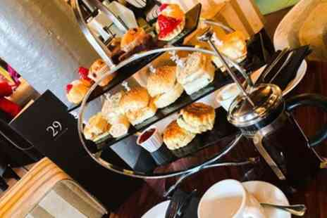 The Grill Room at the Square - Afternoon Tea for Two or Four with Optional Drink - Save 52%