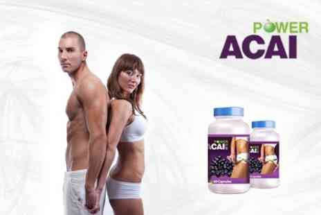 Power Acai - Two Month Course of Acai Berry Supplements with Power Acai - Save 80%