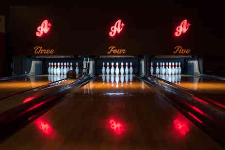 All Star Lanes - Game of bowling with a burger, side and a glass of Prosecco, wine or beer - Save 49%