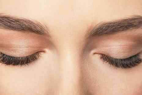 Eyebrows and Nails Junction - Russian Eyelash Extensions with Eyebrow Threading and Tint - Save 42%