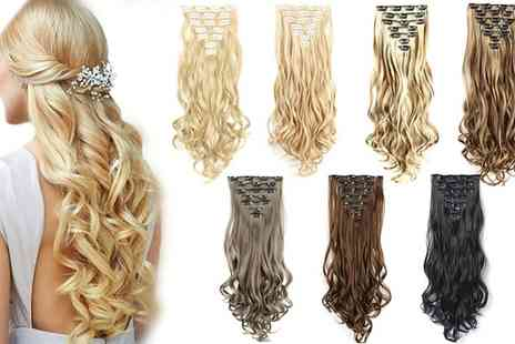 Groupon Goods Global GmbH - Seven Piece Clip In Hair Extensions - Save 0%