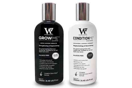 Groupon Goods Global GmbH - Watermans Grow Me Shampoo, Conditioner, Elixir or Vitamins - Save 0%