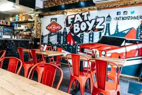 Fat Boyz Diner - Burger or Hot Dog with Side Dish and Drink for Up to Four - Save 46%