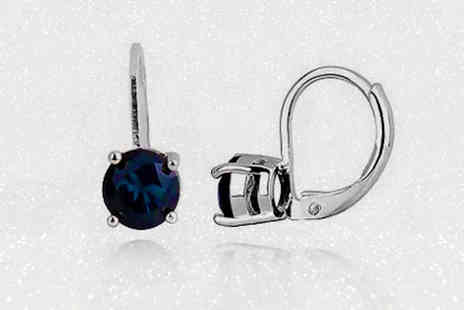 Evoked Design - Pair of blue sapphire earrings choose from two colours - Save 90%