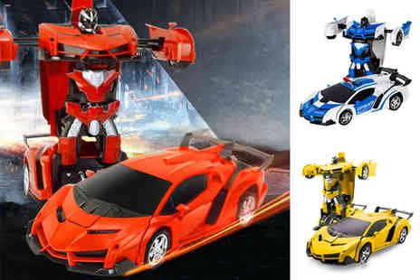 WowWhatWho - Remote controlled transforming toy car and robot - Save 72%