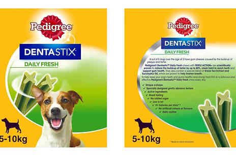 Trojan Electronics - 56, 112 or 224 Pedigree DentaStix Fresh or Oral Care Chew Sticks Choose from Small, Medium or Large Dogs - Save 50%