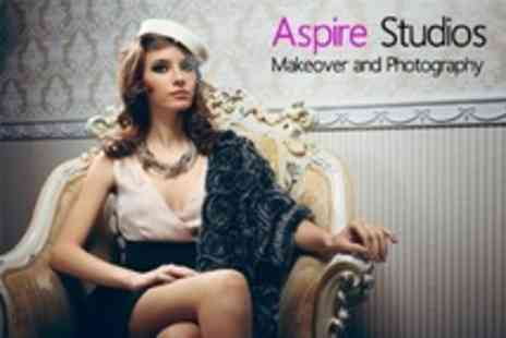 Aspire Studios - Makeover Photo Shoot With Airbrushed Prints For One - Save 92%