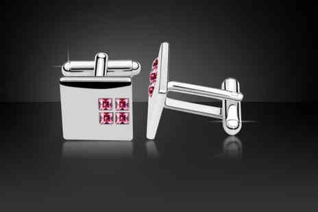 Solo Act - Mens silver knot cufflinks - Save 72%