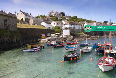 The Three Tuns - Overnight Cornish break for two people with breakfast and a glass of Prosecco each - Save 39%