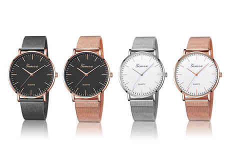 Taylors Jewellery - Mesh fashion watch choose from four designs - Save 88%