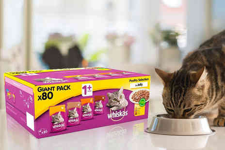 Trojan Electronics - 80 x 100g Whiskas cat food pouches - Save 25%
