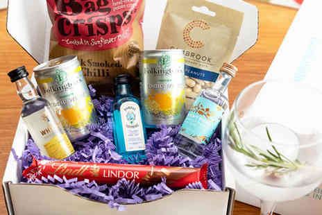 Bottle in a Box - Small personalised gin hamper - Save 51%