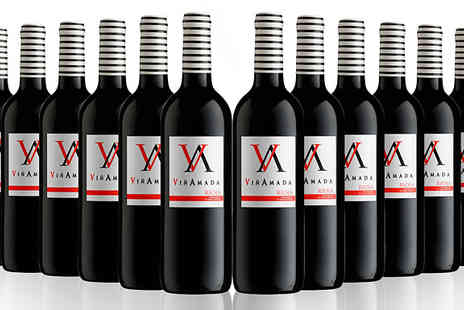 San Jamon - 12 Bottles of Vinamada Tempranillo Rioja Red Wine - Save 63%