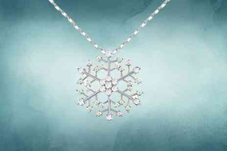 Evoked Design - Crystal snowflake necklace - Save 84%