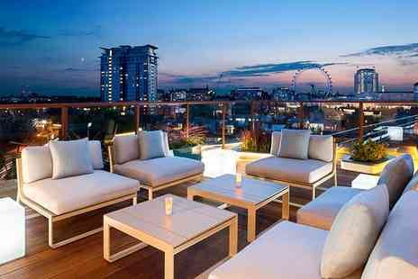 H10 London Waterloo - Four Star Rooftop City Views near the South Bank for two - Save 68%