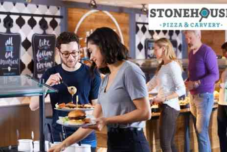 Stonehouse Pizza & Carvery - Carvery or Main Meal with Wine, Beer or Soft Drink for Two - Save 39%