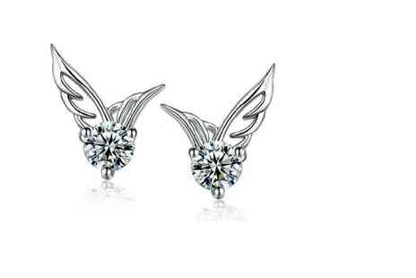 GetGorgeous - Pair of angel wing stud earrings - Save 71%